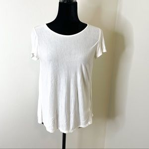 EXPRESS SHEER BACK PLEATED TOP SZ: XS